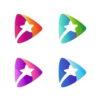 Logo de jeu multimédia star