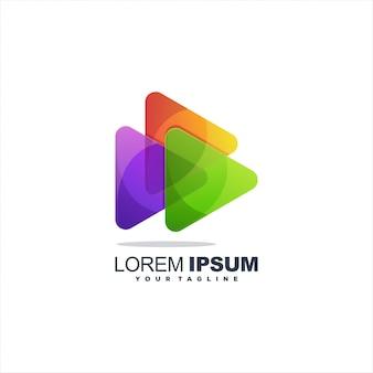 Logo de jeu multimédia
