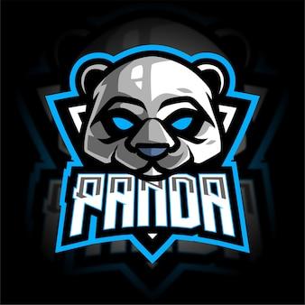 Logo De Jeu Panda Esport Vecteur Premium