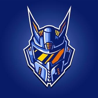 Logo de jeu de robot esport