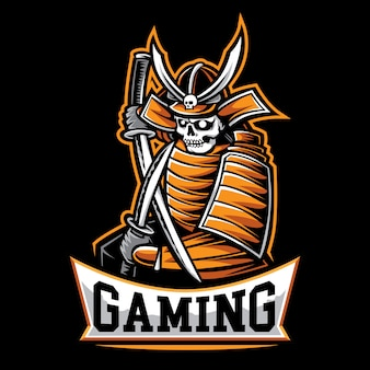 Logo de jeu samurai