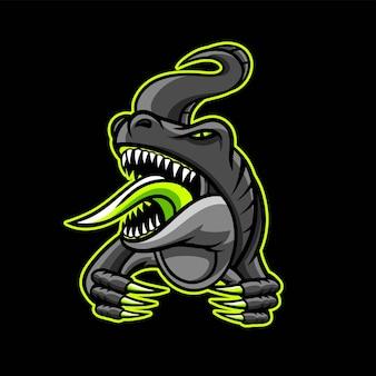 Logo de jeu t-rex esport