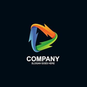 Logo de jeu de tonnerre