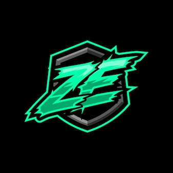 Logo de jeu ze initial