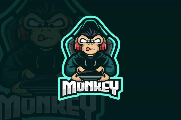 Logo de joueur de singe
