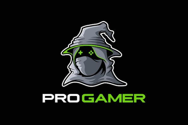 Logo des joueurs avec un masque et portant un chapeau de sorcière