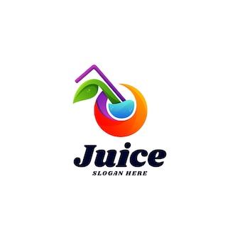 Logo jus dégradé style coloré