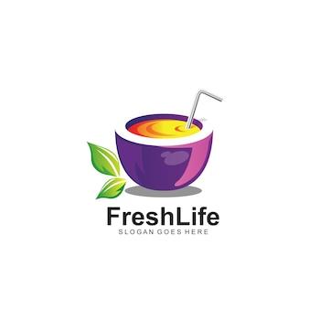 Logo de jus de fruits frais