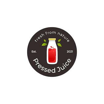 Logo de jus de smoothie bouteille pressée