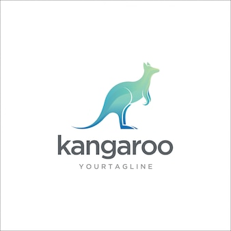 Logo kangourou australien moderne