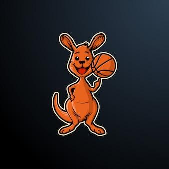 Logo kangourou sport