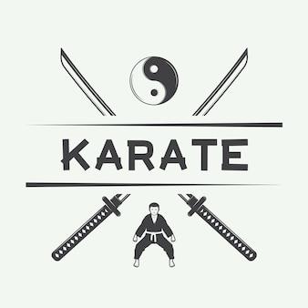 Logo de karaté, emblème