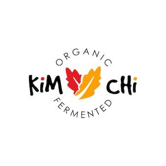 Logo kimchi simple vecteur de légumes fermentés pour une alimentation saine biologique