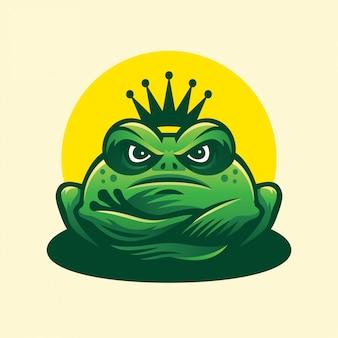 Logo king frog