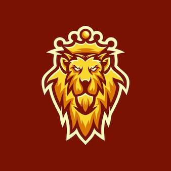 Le logo de king lion head