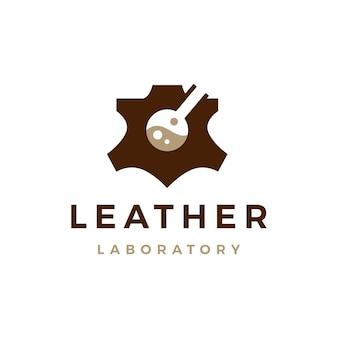 Logo de laboratoire en cuir icône illustration vectorielle