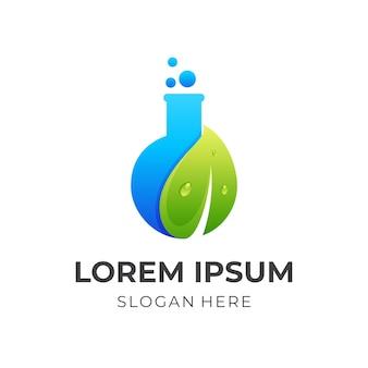 Logo de laboratoire avec des icônes de la nature