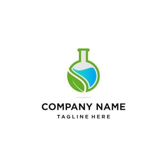 Logo de laboratoire vert naturel