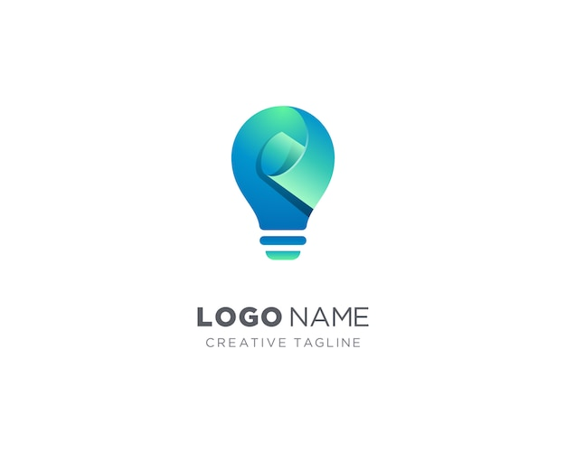 Logo de lampe créative