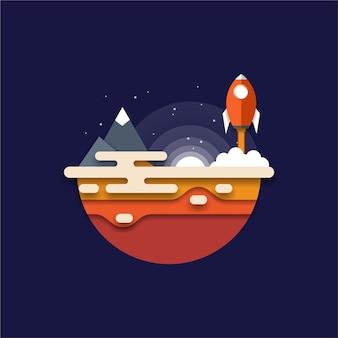 Logo de lancement de fusée