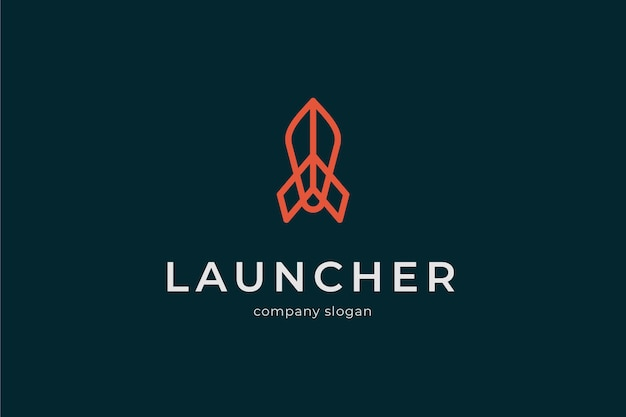 Logo de lanceur moderne