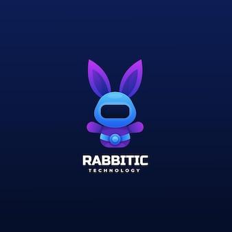 Logo lapin dégradé style coloré