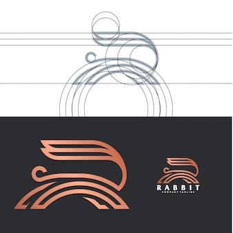 Logo de lapin de luxe