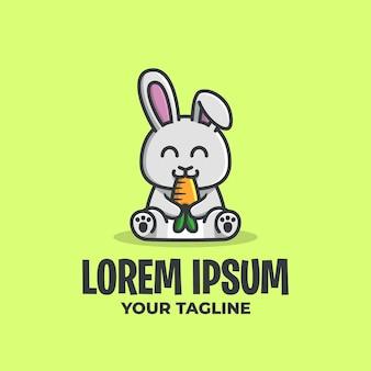 Logo de lapin mignon