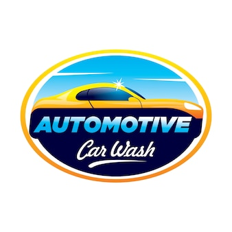 Logo de lavage de voiture automobile