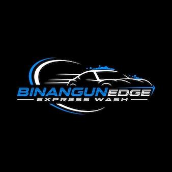 Logo de lavage de voiture express