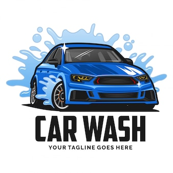 Logo de lavage de voiture inspiration design
