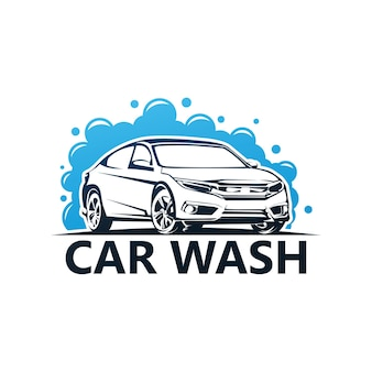 Logo de lavage de voiture