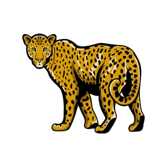 Logo léopard mascotte logo illustration emblème isolé