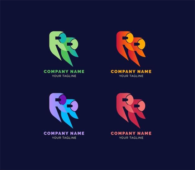 Logo de lettrage ou logo de propriété d'accueil ou logo de bâtiment de logement de résidence