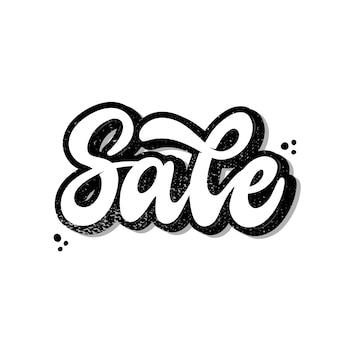 Logo de lettrage à la main, citation «vente»