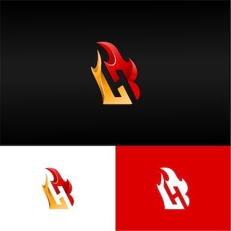 Logo de la lettre 3d bh