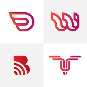 Logo de lettre abstrait créatif