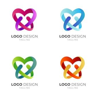 Logo de lettre d'amour w