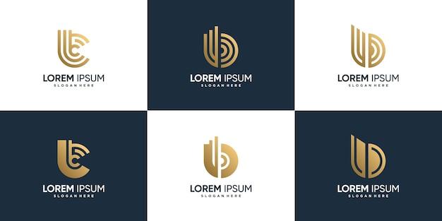 Logo de lettre b avec un concept créatif moderne vecteur premium