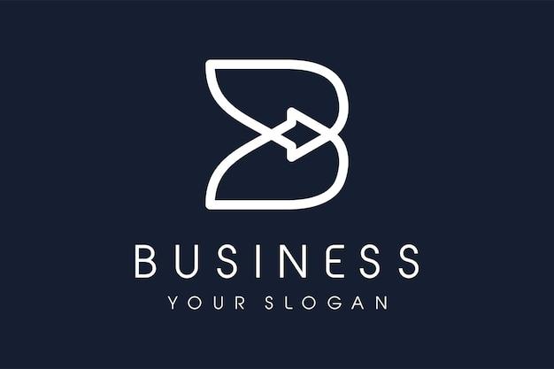 Logo de la lettre b avec concept de flèche. logo moderne pour l'identité de la marque.