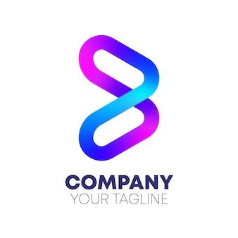 Logo de la lettre b dégradé