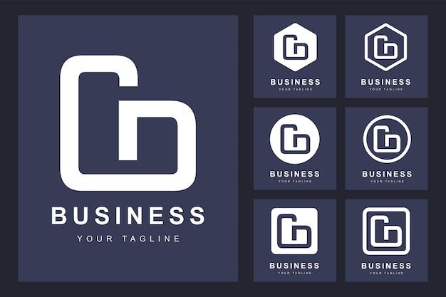 Logo de lettre cd minimaliste avec plusieurs versions