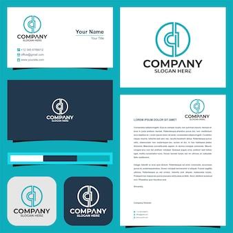 Logo lettre ci et carte de visite