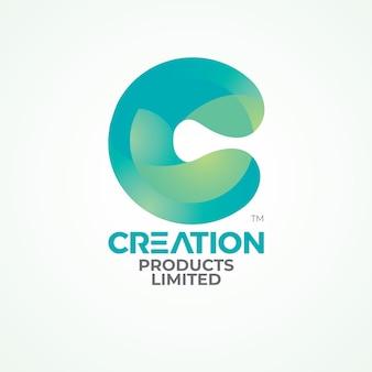 Logo de lettre c créatif