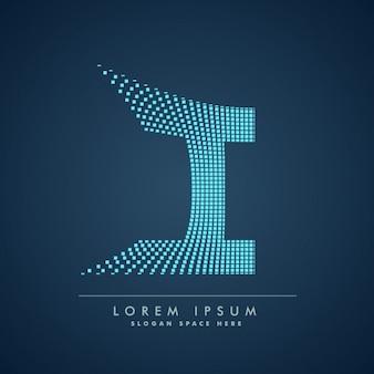 Logo de la lettre à damiers je
