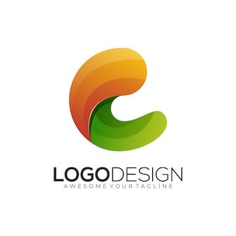 Logo lettre c dégradé coloré moderne