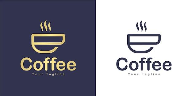 Le logo de la lettre e a un concept de café