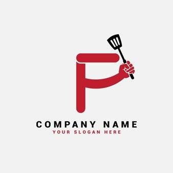 Logo de lettre f, logo de lettre de nourriture f