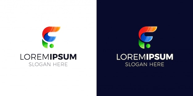 Logo de la lettre f avec style dégradé.