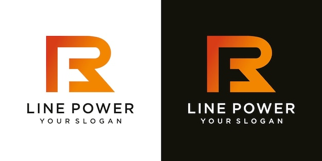 Logo de lettre fr ou rf initiale unique et créative moderne et attrayante fr rf fr icône de lettre initiale basée sur